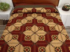 Stars in the Cabin Quilt -- great carefully made Amish Quilts from Lancaster (hs2969)