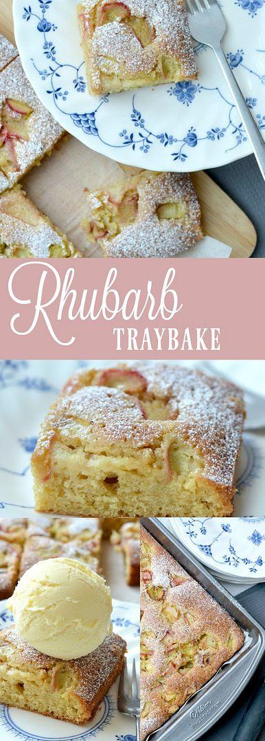 Rhubarb Cake Traybake