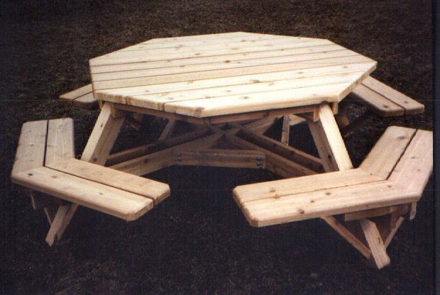 Free Octagon Picnic Table Plans Andhix Ideas - Pentagon picnic table