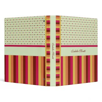 Polka Dots and Stripes Pattern Avery Binder binder