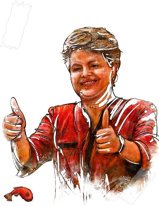 Retrato Dilma Rouseff por Hache Holguín