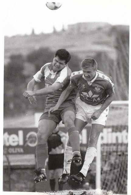 Andrei Moj en el partido CD Toledo-Real Valladolid de la promoción de ascenso a Primera División en la temporada 1993/1994 © Fotografía de Carlos Monroy