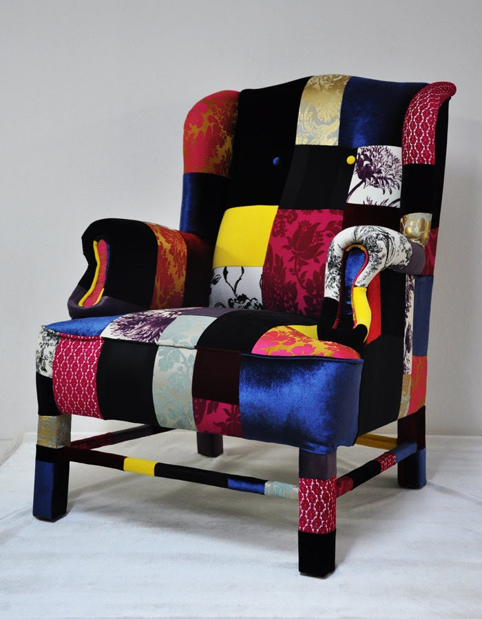 wings armchair patchwork