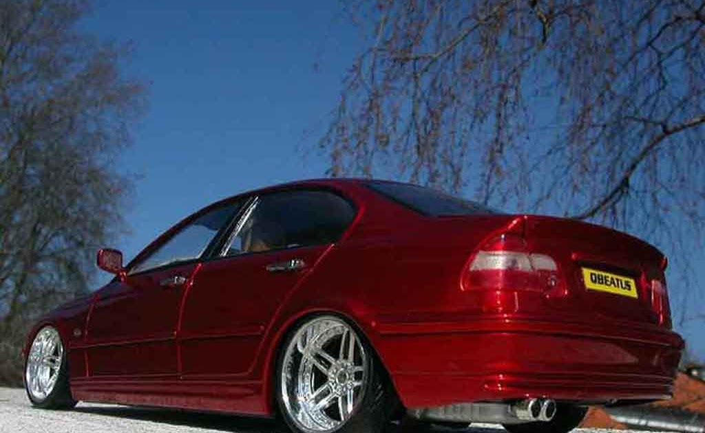 Ceritaindonesia Bmw 328 E46 Tuning Red Candy Et Wheels Chromes Welly Diecast Model Car