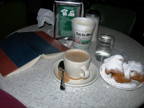 Cafe Au Lait and Beignats at Cafe Du Monde