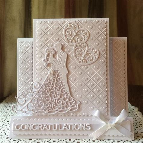 Wedding or Engagement design Tattered Lace dies #imadethis