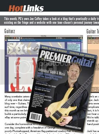 Premier Guitars Magazine review Guitarz blog