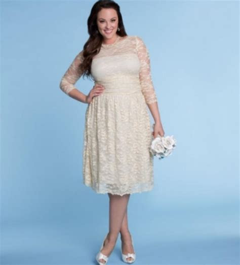 Non traditional plus size wedding dresses   PlusLook.eu