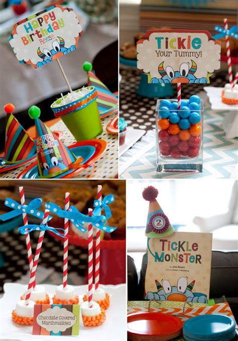 Kara's Party Ideas Tickle Monster themed birthday party