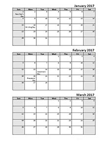 printable 6 month calendar 2017 calendar june