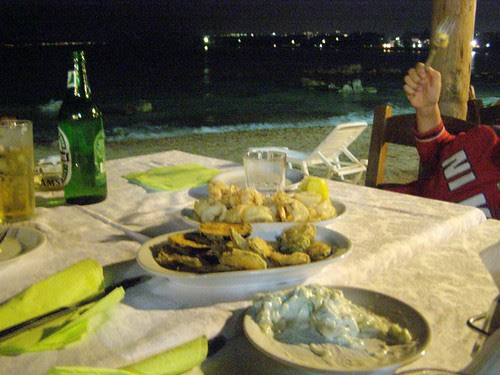 evening meal by the beach
