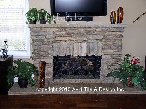 Stacked Stone Fireplace | Flickr - Photo Sharing!