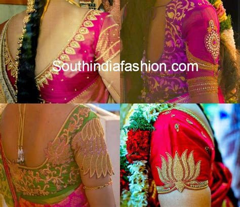 Silk Saree Blouse Designs ? South India Fashion