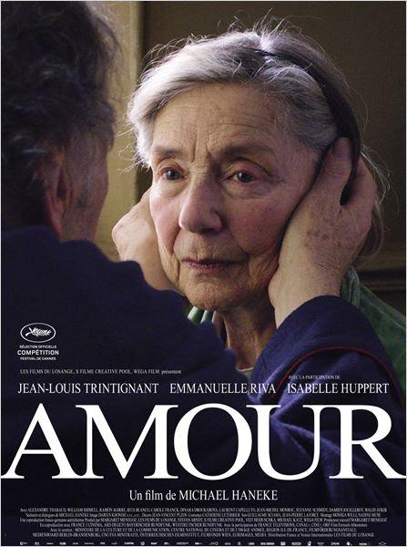 Amour : affiche Emmanuelle Riva, Jean-Louis Trintignant, Michael Haneke