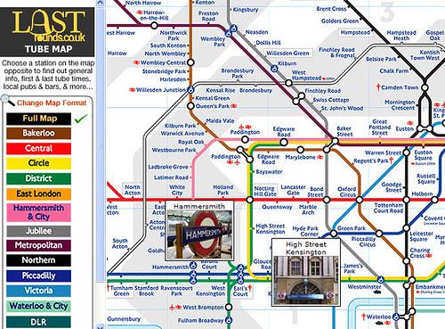Screengrab of Last Rounds Tube Map