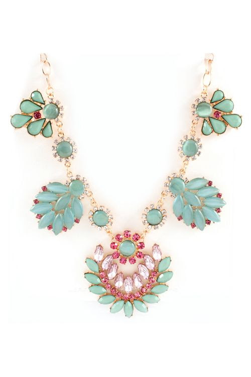 Lamire Necklace in Mint Marquise