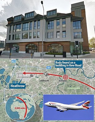 Stowaway on a British Airways jet approaching Heathrow falls to his death