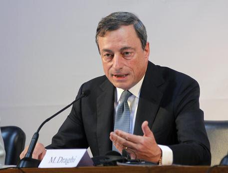 Il presidente della BCE, Mario Draghi. ANSA/CIRO DE LUCA (foto: ANSA)