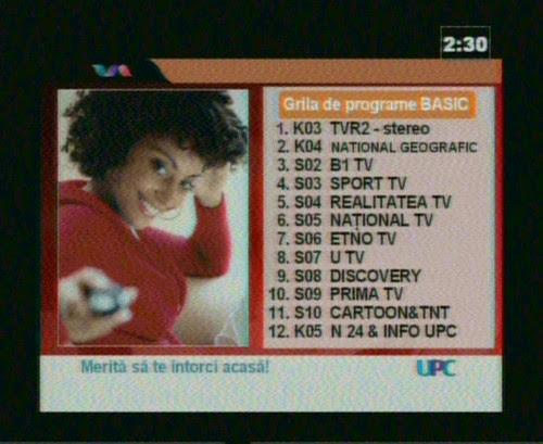 Grila TV UPC Orsova