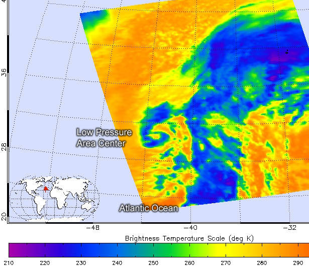 AIRS image of System 90L