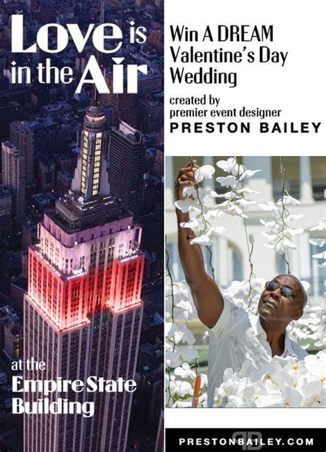 Empire State Building and Preston Bailey Valentine?s Day