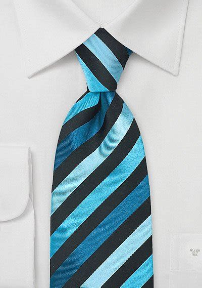 Turquoise, Teal, & Black Silk Tie   Bows N Ties.com