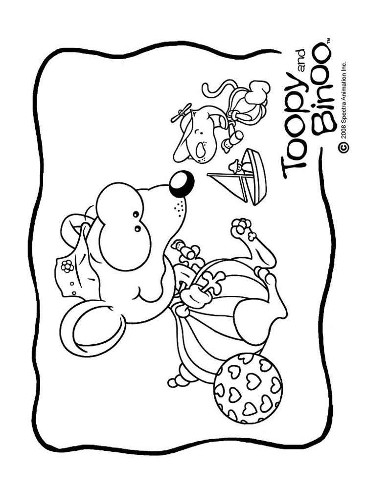 toopy and binoo coloring pages 11