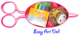 Crayola fabric marker easy art doll tutorial
