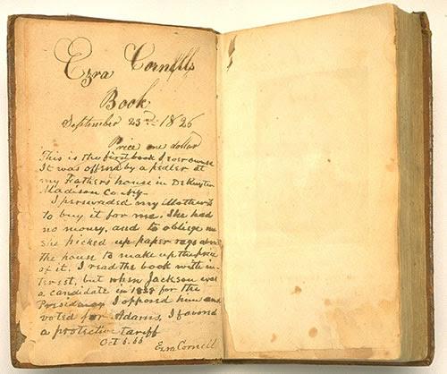 File:Ezra Cornell's first book.jpg
