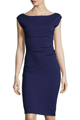 Diane von Furstenberg Boat Neck Cap Sleeve Dress