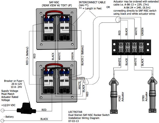 Wiring Diagram Flat Rocker Switch Saf S Saf Ns Sf S Series Lectrotab Electromechanical Trim Tab Systems