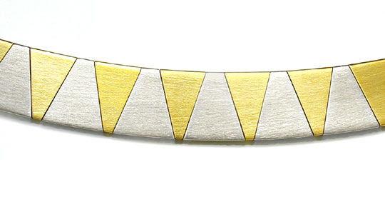 Foto 1, 1A-Design Kollier massiv Gelbgold Weissgold Luxus! Neu!, K2874
