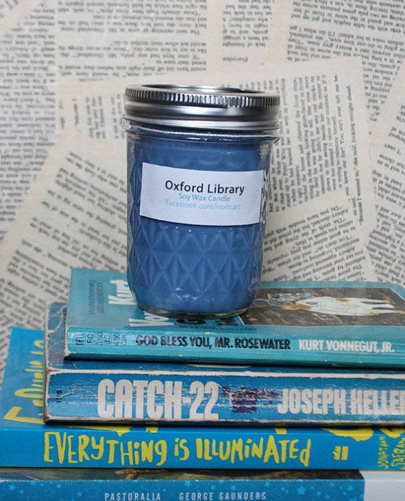 Etsy shop selling bookish candles