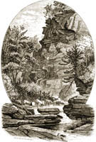 Cliff In Artist's Glen, Kaaterskill Clove