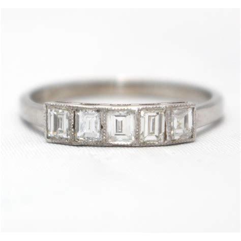 diamond ring five stone 18ct white gold
