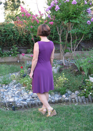 Vogue 1351 Purple knit dress back