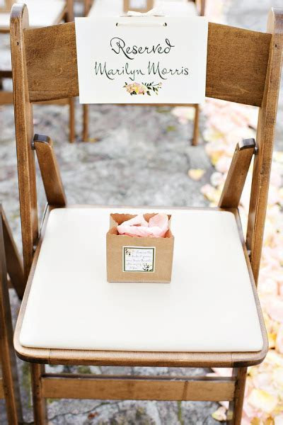 Wedding Stationery Inspiration: Reserved Signs