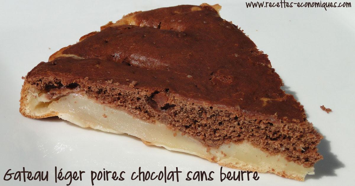 gateau léger poires chocolat sans beurre - recettes de ...