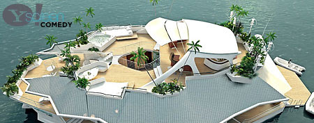 Floating island on sale for $4.8 million (Broken News Daily)