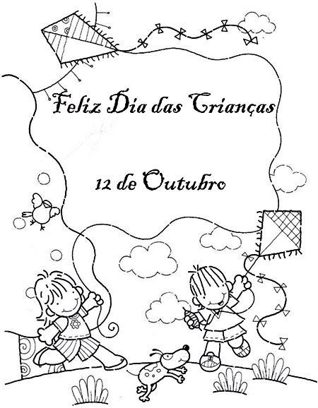 521930 Dia das crianças desenhos para colorir 3 Dia das crianças: desenhos para colorir