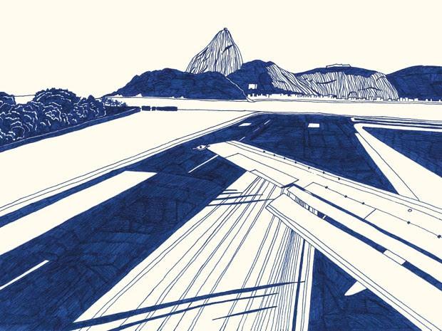 Paulo Mariotti desenha cenas e cenários do Rio (Foto: Paulo Mariotti / Divulgação)