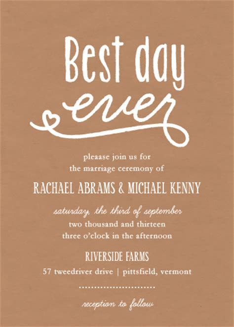 wedding invitations   best day ever at Minted.com