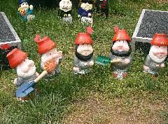 Devo gnomes @ Floriade