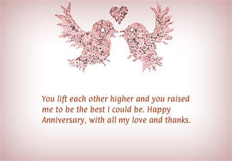 Anniversary Wishes to Parents