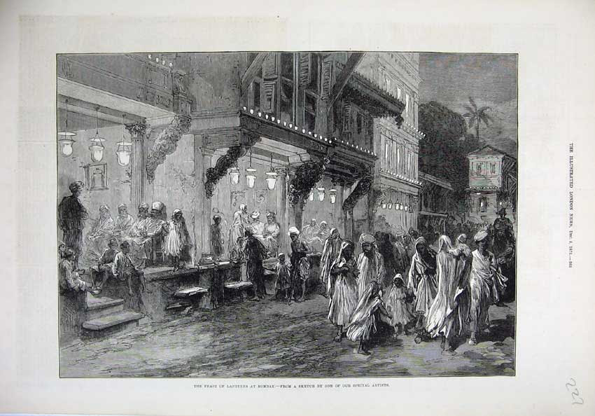 Image result for 1875-feast lanterns using china lamps in Bombay