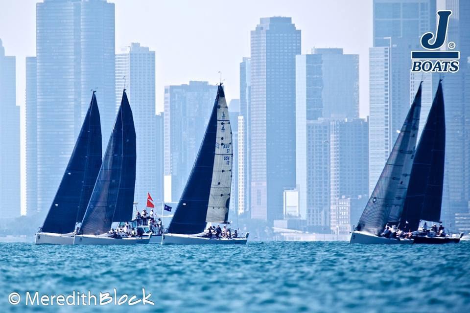 J/111s starting- sailing off Chicago