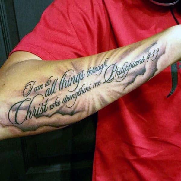 40 Philippians 413 Tattoo Designs For Men Bible Verse Ideas