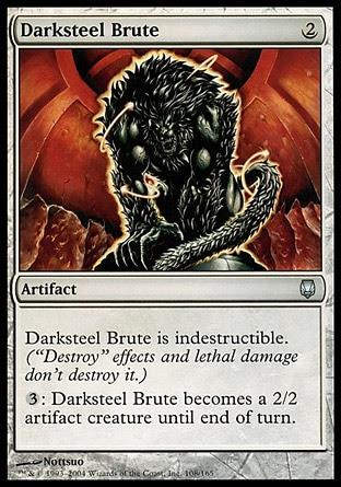 Bruto de acero oscuro