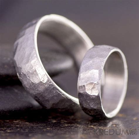 Steel wedding ring, womens ring, mens ring   Hand forged