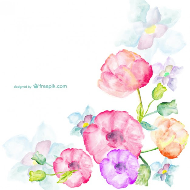 Fondo Flores Acuarela Hd